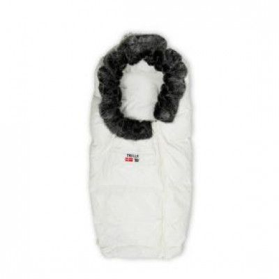 Trille Dunåkpåse Polar med fuskpäls (Vit)