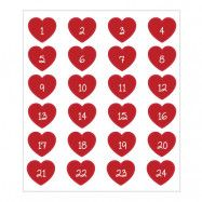 Stickers Adventssiffror