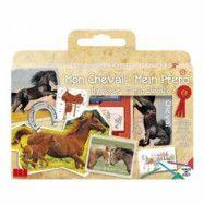 Hästar - Stämpla och rita 7-pack med bok
