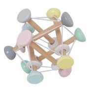 Jabadabado aktivitetsboll trä, pastell