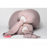 bbhugme gravid- och amningskudde, dusty pink/vanilla
