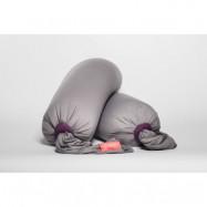 bbhugme gravid- och amningskudde, stone/plum