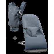 BABYBJÖRN Basic Startkit för nyfödda - Duvblå, 3D Jersey