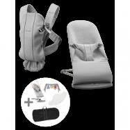 BABYBJÖRN Medium Startkit för nyfödda - Ljusgrå, 3D Jersey