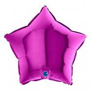 Folieballong Stjärna Lila - 45 cm
