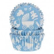 Muffinsformar Baby Blå - 50-pack