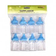 Partytajm Nappflaskor Dekoration 8-pack (Blå)