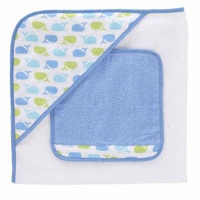Triboro, Badcape med tvättlapp blå