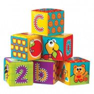 Happy Baby - Mjuka byggklossar 6-pack