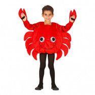 Krabba Röd Barn Maskeraddräkt - Small