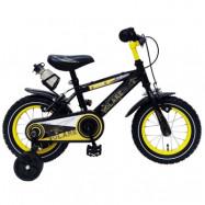 """Volare, Barncykel med stödhjul - Freedom 12""""svart&gul"""
