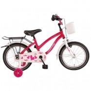 """Volare, Barncykel med stödhjul - Heart 16""""rosa"""