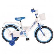 """Volare, Barncykel med stödhjul - Paisley 16""""vit&blå"""