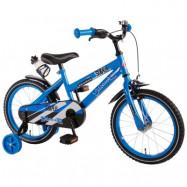 """Volare, Barncykel med stödhjul - Super 16""""blå"""