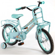 """Volare, Barncykel med stödhjul - Tattoo 16""""ljusblå"""