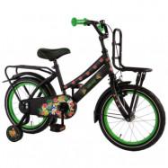 """Volare, Barncykel med stödhjul -Tropical 16""""svart&grön"""