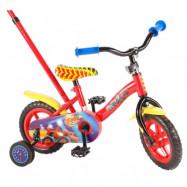 """Volare Blaze&Monstermaskinerna, Barncykel med stödhjul&stång 10""""röd"""