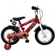 """Volare Disney Cars, Barncykel med stödhjul&handbromsar 14""""röd"""