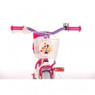 """Volare Disney Minnie, Barncykel med stödhjul 12""""rosa"""