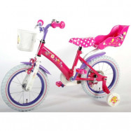 """Volare Disney Minnie, Barncykel med stödhjul 14""""rosa"""