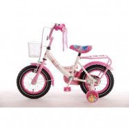 "Volare Disney Princess, Barncykel 12""- White/Pink"