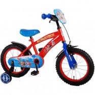 """Volare Paw Patrol, Barncykel med stödhjul 14""""röd&blå"""