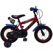 """Volare Spiderman, Barncykel med stödhjul&handbromsar 12""""röd"""