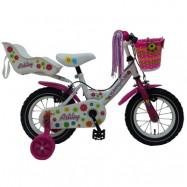 """Volare Yipeeh, Barncykel med stödhjul&handbromsar - Ashley 12""""vit"""
