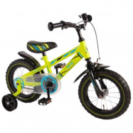 """Yipeeh, Barncykel med stödhjul - Electric 12""""grön"""