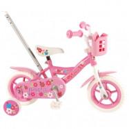 """Yipeeh, Barncykel med stödhjul - Flowerie 10""""rosa"""