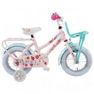 """Yipeeh, Barncykel med stödhjul - Liberty 12""""rosa&grön"""