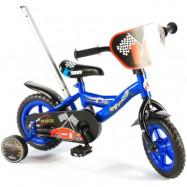 """Yipeeh, Barncykel med stödhjul - Power 10""""blå"""