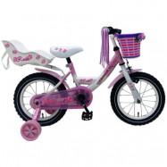 """Yipeeh, Barncykel med stödhjul - Rose 14""""rosa"""