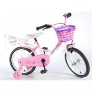 """Yipeeh, Barncykel med stödhjul - Rose 16""""rosa"""
