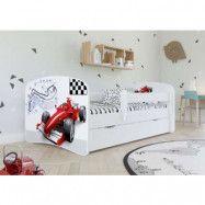 Barnsäng Formel 1 med Förvaringslåda & Madrass