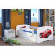 Barnsäng Sportbil Röd med Förvaringslåda & Madrass