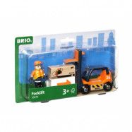 BRIO, Lift&Load 33573 Gaffeltruck med förare