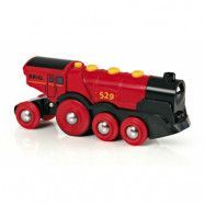 BRIO, Rail&Road 33592 Batteridrivet lok - The Mighty Red
