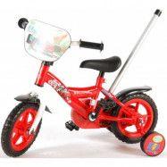 Disney Cars Barncykel 10 tum med stödhjul & cykelstång