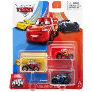 Disney Cars, Mini Racers Metal 3-pack