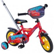 """Volare Disney Cars, Barncykel med stång&stödhjul 10""""röd"""