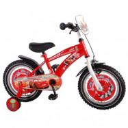 """Volare Disney Cars, Barncykel med stödhjul 14""""röd"""