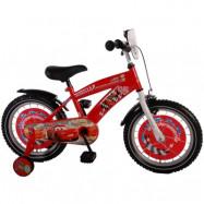 """Volare Disney Cars, Barncykel med stödhjul 16""""röd"""