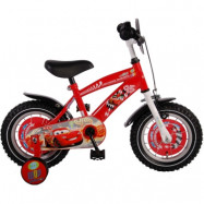 """Volare Disney Cars, Barncykel med stödhjul - Cruiser 12""""röd"""