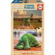 Educa Den Goda Dinosaurien, Träpussel 2 x 50 bitar