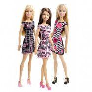 Barbie, Basic Docka Rosa klänning med blommor