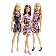 Mattel Barbie, Basic Docka Svartrutig klänning