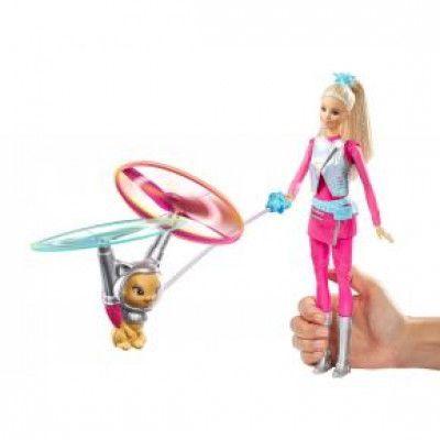 Barbie på äventyr i rymden - Docka med flygande katt