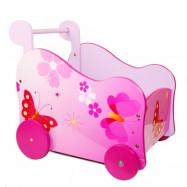 Homestyle4u, Dockvagn - rosa fjärilar