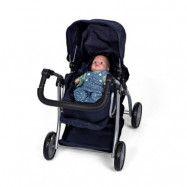 Mini Mommy Dockvagn med babylift (mörkblå)